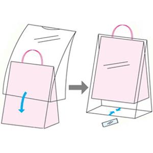 紙袋用雨カバー
